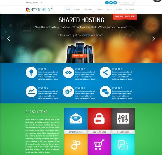Theme wordpress bán hosting Hostchilly-v3