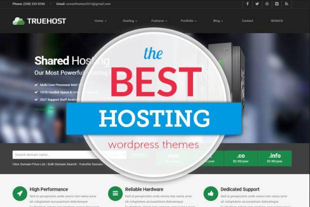 Top 10 theme wordpress bán hosting độc đáo 2019